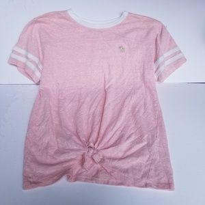 Abercrombie girls pink short sleeve shirt